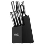Ginsu Koden Series: 10 Piece Stainless Steel Knife Set in Black Block