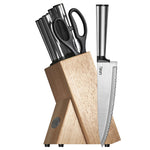 Ginsu Koden Series: 8 Piece Cutlery Set in Natural Block