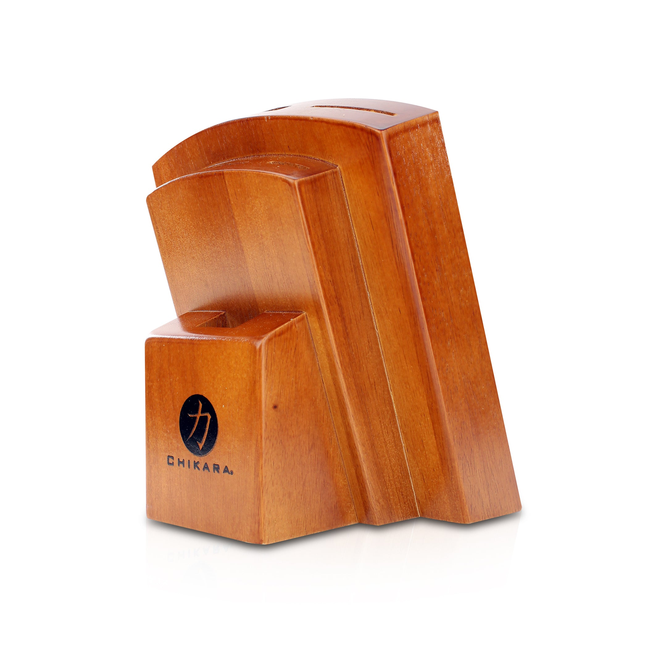 Ginsu 7-Slot Knife Block, Toffee Finish