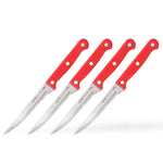 Ginsu DishwasherSAFE Series: 4 Piece Red Steak Knife Set