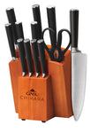 Chikara Series: 12 Piece Cutlery Set with Toffee Block - Ginsu