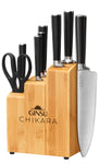 Chikara Series: 8 Piece Cutlery Set with Bamboo Block - Ginsu