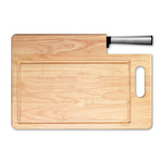 Ginsu Koden Series: Stainless Steel Santoku Knife and Cutting Board