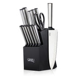 Ginsu Koden Series: 14 Piece Stainless Steel Cutlery Set with Block