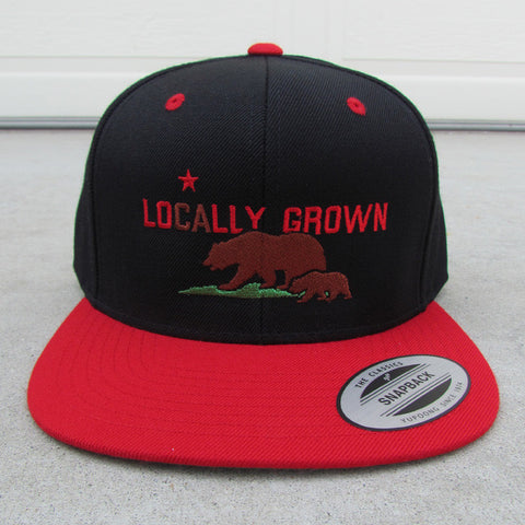 Locally Grown – California Adult Snapback Flat Bill Cap