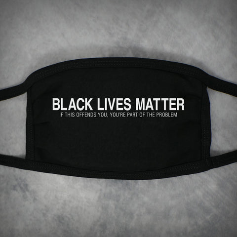 Black Lives Matter – Adult Size Face Mask – Black