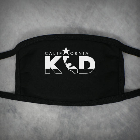 California Kid – Adult Size Face Mask – Black