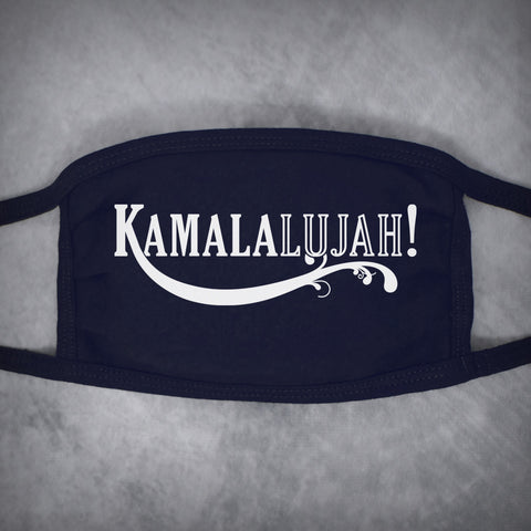 Kamalalujah! – Adult Size Face Mask – Dark Navy