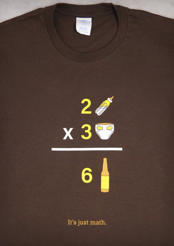 Math – Men's Daddy Chocolate Brown T-shirt