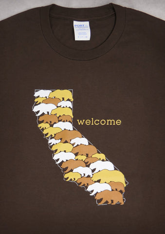 Welcome – California Men's Chocolate Brown T-shirt