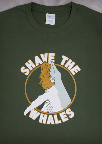 Shave the Whales – Men's Olive Green T-shirt
