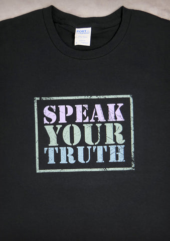 Speak Your Truth – Men's Black T-shirt