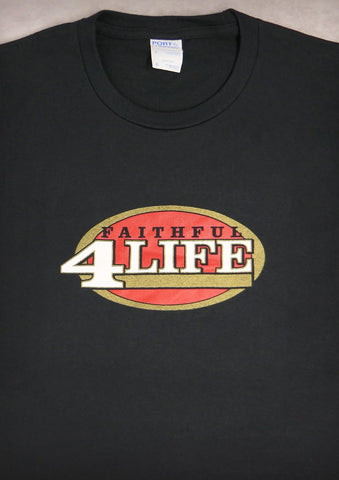Faithful 4 Life (San Francisco 49ers) – Men's Black T-shirt