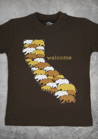 Welcome – California Youth Boy Chocolate Brown T-shirt