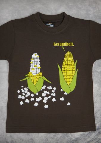 Popcorn – Youth Boy Chocolate Brown T-shirt