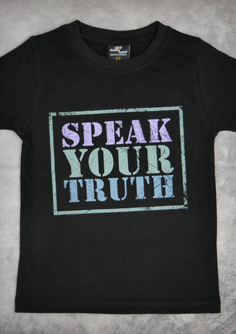 Speak Your Truth – Youth Boy Black T-shirt