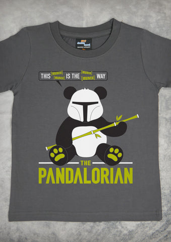 The Pandalorian – Youth Boy Charcoal Gray T-shirt