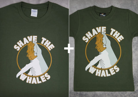 Shave the Whales Gift Set – Men's T-shirt + Youth Boy T-shirt