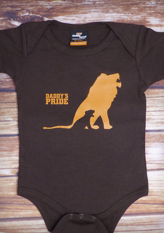 Daddy's Pride – Baby Chocolate Brown Onepiece & T-shirt
