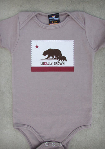 Locally Grown – Eco-friendly Organic California Baby Cinder Onepiece & T-shirt