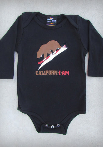 Californ I Am (Snowboarder) – California Baby Black Long Sleeve Onepiece & T-shirt