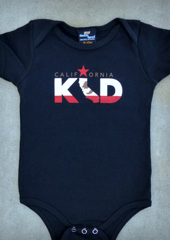 California Kid – California Baby Boy Black & Baby Blue Onepiece & T-shirt