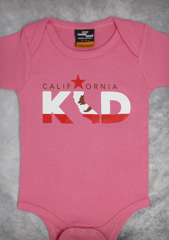 California Kid – California Baby Girl Coral & Pink Onepiece & T-shirt