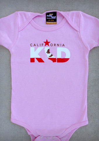California Kid – California Baby Girl Pink & Black Onepiece & T-shirt