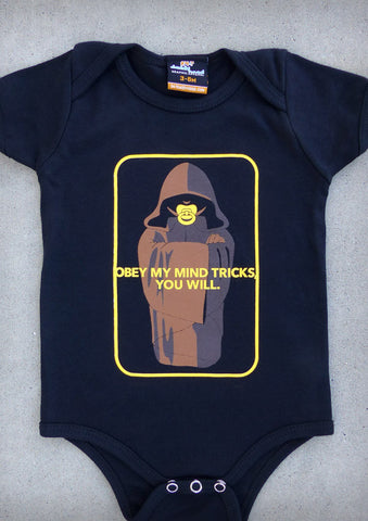 Obey My Mind Tricks – Baby Black Onepiece & T-shirt