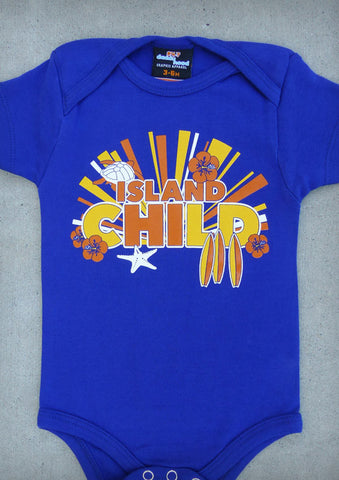 Island Child – Hawaii Baby Boy Cobalt Blue Onepiece & T-shirt