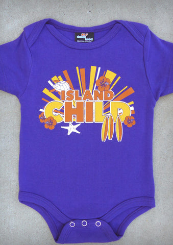 Island Child – Hawaii Baby Girl Purple Onepiece & T-shirt