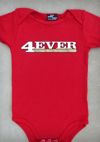 4Ever (San Francisco 49ers) – Baby Red Onepiece & T-shirt