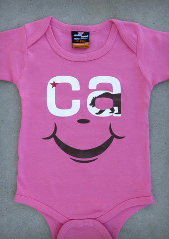 CA Smile – California Baby Girl Coral Pink Onepiece & T-shirt