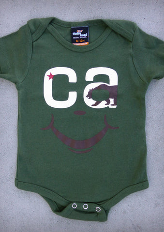 CA Smile – California Baby Olive Onepiece & T-shirt