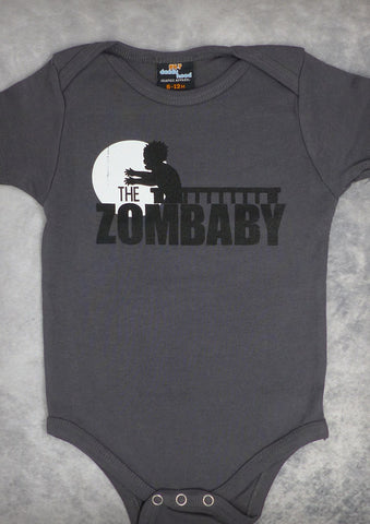 The Zombaby – Baby Boy Charcoal Gray Onepiece & T-shirt