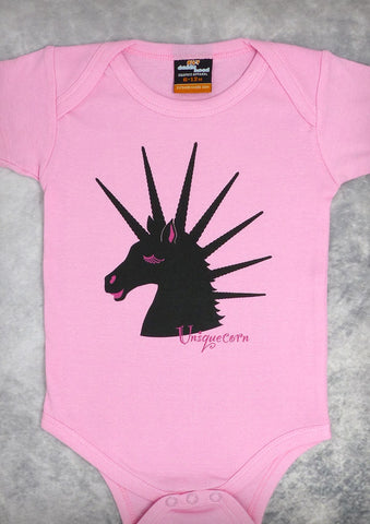 Uniquecorn – Baby Girl Pink Onepiece & T-shirt