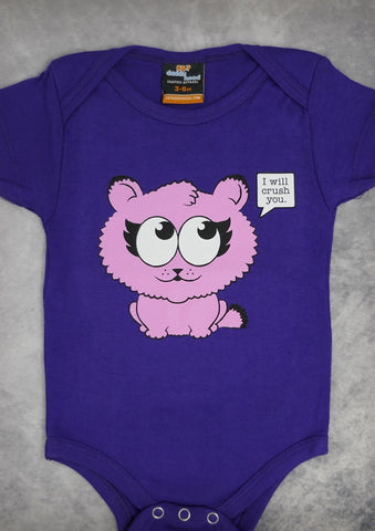 Kitty Crush – Baby Purple Onepiece & T-shirt