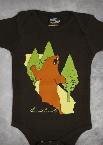 The Wild Calls (Bear) – California Baby Chocolate Brown Onepiece & T-shirt