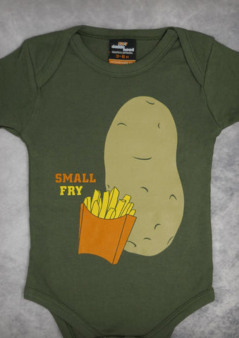 Small Fry – Baby Olive Green Onepiece & T-shirt