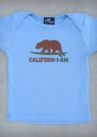 Californ I Am (Surfer) – California Baby Boy Baby Blue T-shirt