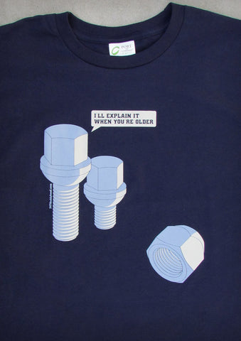 Lug Bolt – Men's Navy Blue T-shirt