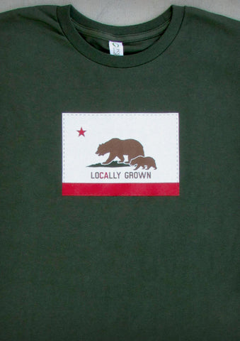 Locally Grown – California Men's Olive Green & Charcoal Gray T-shirt