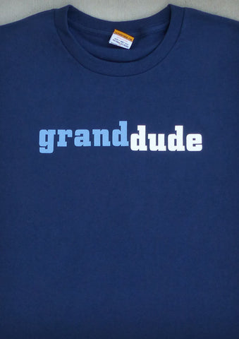 Grand Dude – Men's Grandpa Black & Navy Blue T-shirt