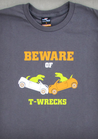 Beware of T-Wrecks – Men's Charcoal Gray T-shirt