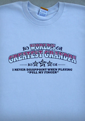 World's Greatest Grandpa – Men's Grandpa Light Gray T-shirt