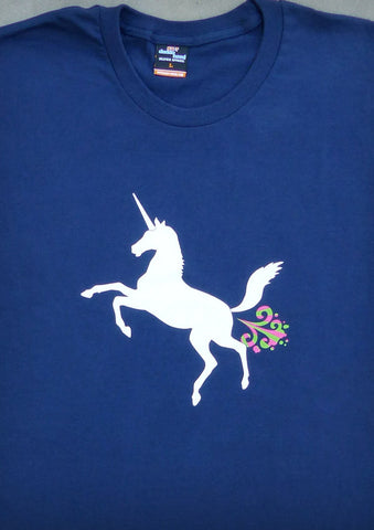 Unicorn – Men's Navy Blue T-shirt