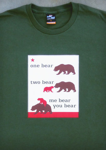 One Bear Two Bear – California Daddy Olive Green T-shirt