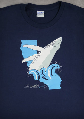 The Wild Calls (Whale) – California Men's Navy Blue T-shirt