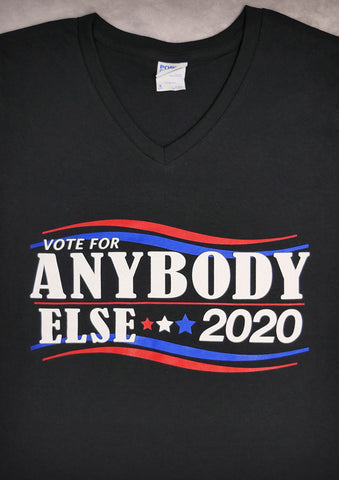Vote – Women's Black V-neck T-shirt