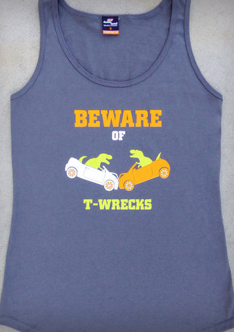 Beware of T-wrecks – Women's Charcoal Tank Top